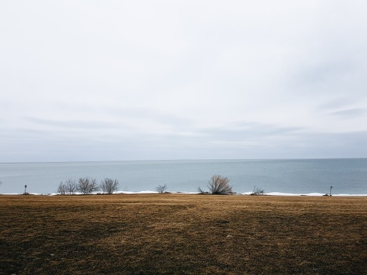 The view facing Toronto from Fort Niagara